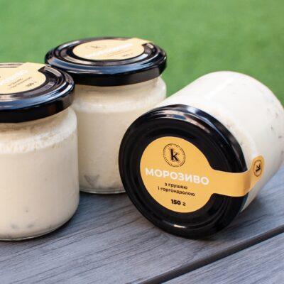 Морозиво груша-горгондзола