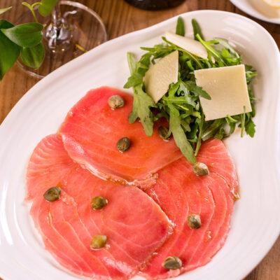 Карпаччо із тунця із соусом «Шисо»