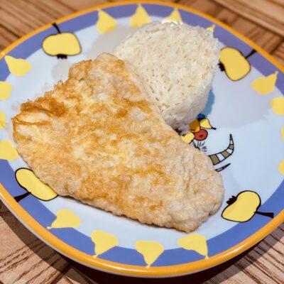 Відбивна з індички з рисом