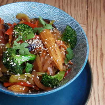 """Азіатська локшина з овочами """"Steer fry"""""""