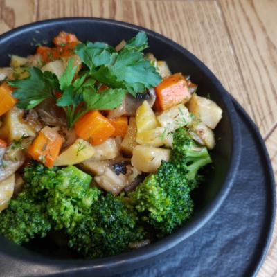 Печеня з овочами